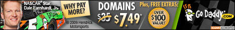 Go Daddy $7.49 .com domains