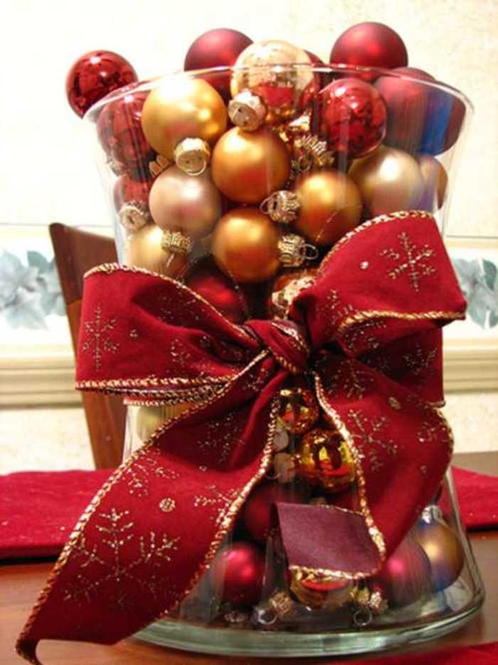 Centros de mesa y arreglos florales para navidad - Mesas para navidad ...