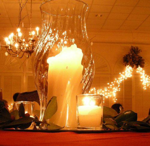 Centros de mesa y arreglos florales para navidad - Decoracion jarrones de cristal ...