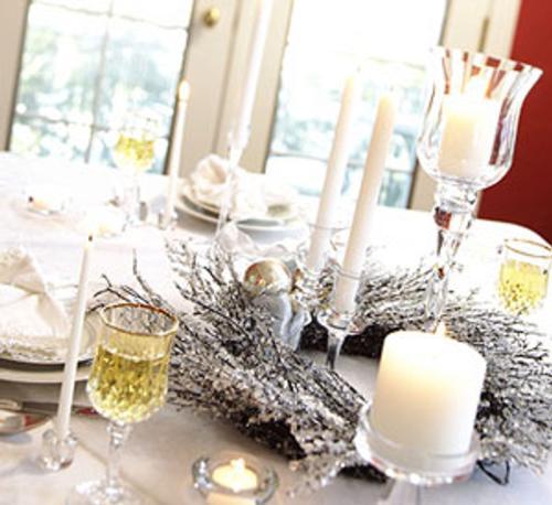 Centros de mesa y arreglos florales para navidad - Centro de navidad con velas ...