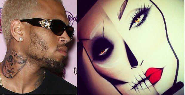 Chris Brown se tatúa la cara de una mujer golpeada - ¿Es Rihanna?
