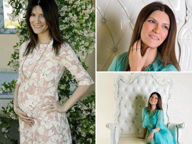 Laura Pausini embarazada, espera una niña