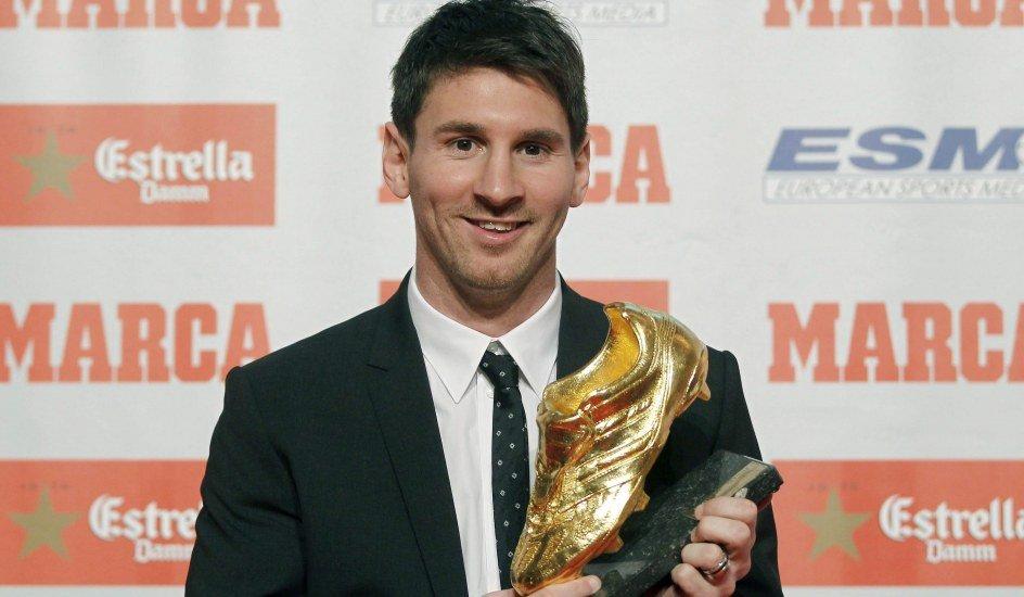 Leo Messi recibe la Bota de Oro