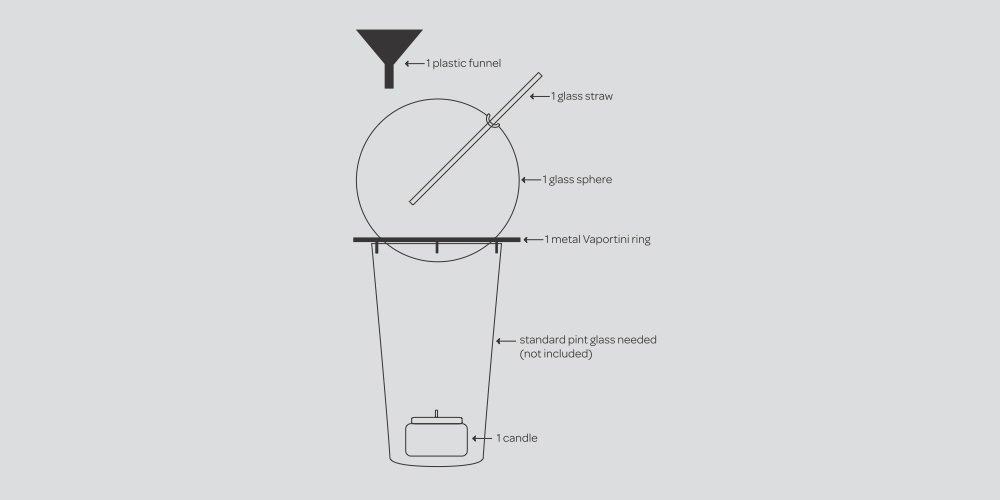 Insólito: Un vaso que permite 'inhalar' tragos en lugar de beberlos