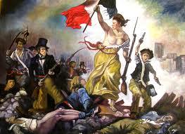 Realizan una pintada sobre el ícono de la revolución francesa, el cuadro 'La libertad guiando al pueblo' de Delacroix