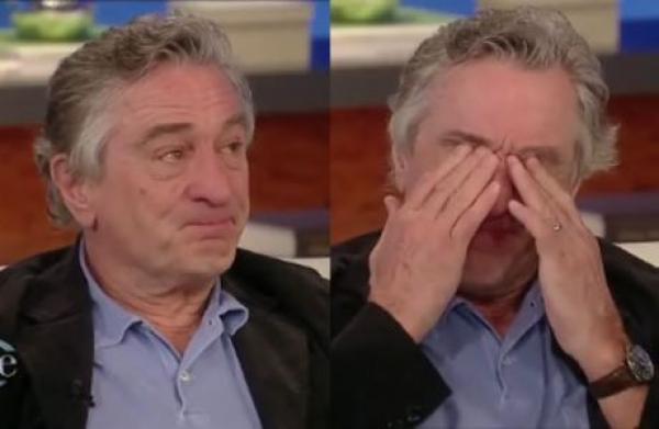 Robert De Niro rompe en llanto tras una pregunta en TV - Vídeo