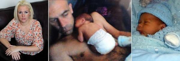 Insólito: Bebé muere por un beso de su papá