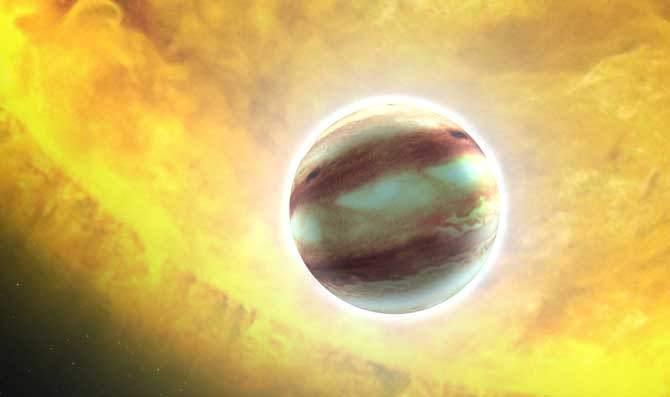 Descubren un exoplaneta con oxígeno y monóxido de carbono