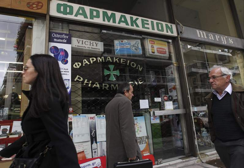 Desabastecimiento de medicamentos en Grecia provoca caos