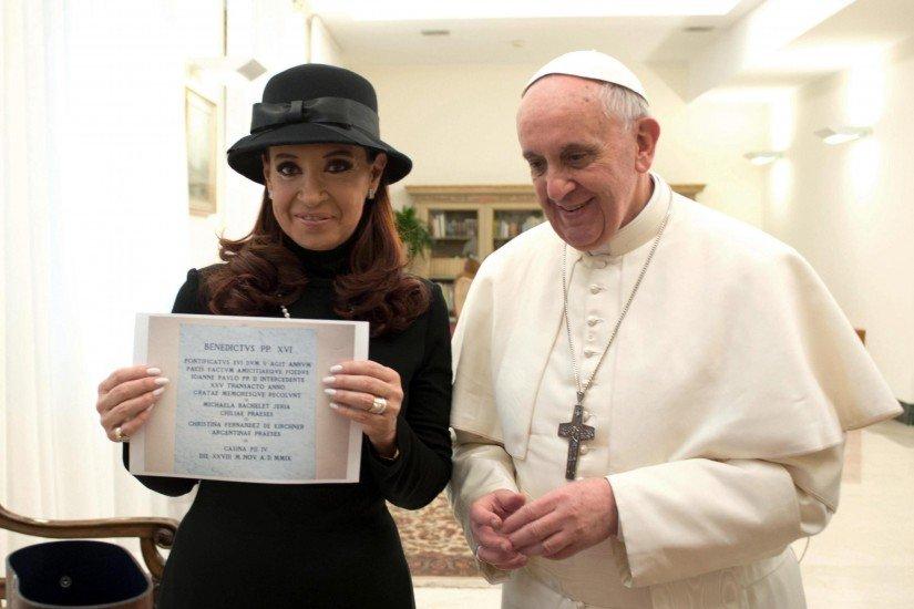 El papa Francisco recibe a la presidenta de Argentina Cristina Fernández - Fotos