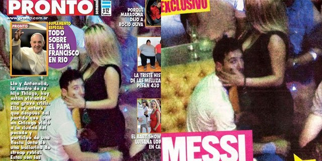 Leo Messi en 'orsai' con una stripper - Fotos