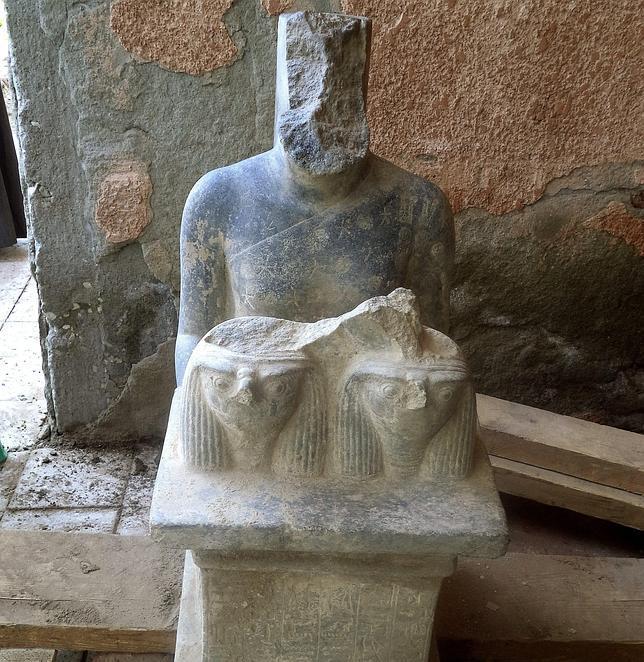 Descubren nuevas estatuas faraónicas en un templo de Luxor¡
