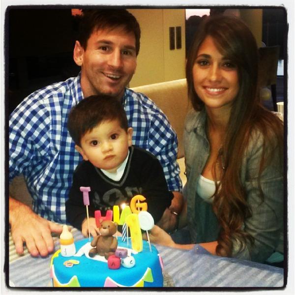 Thiago Messi ya cumplió su primer año - Fotos