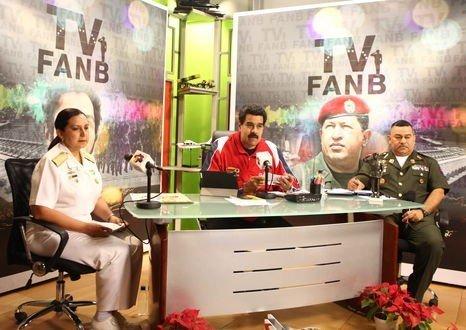 Nicolás Maduro inaugura la televisora de la Fuerza Armada, operada por militares