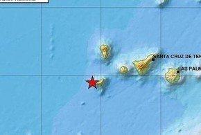 El Hierro registra un seísmo de magnitud 5.1 grados en la escala de Richter