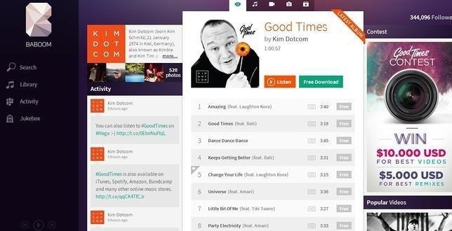 'Good Times' el lanzamiento del nuevo álbum de Kim Dotcom